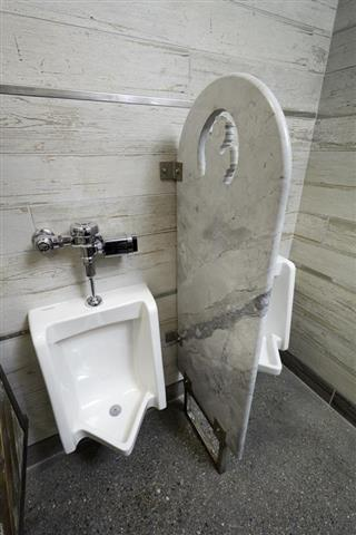 Marble Bathroom Stall