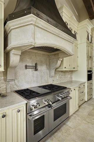 Quartzite Kitchen - Range Close Up