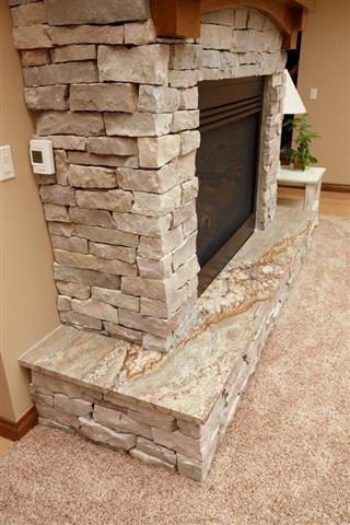 Granite Fireplace